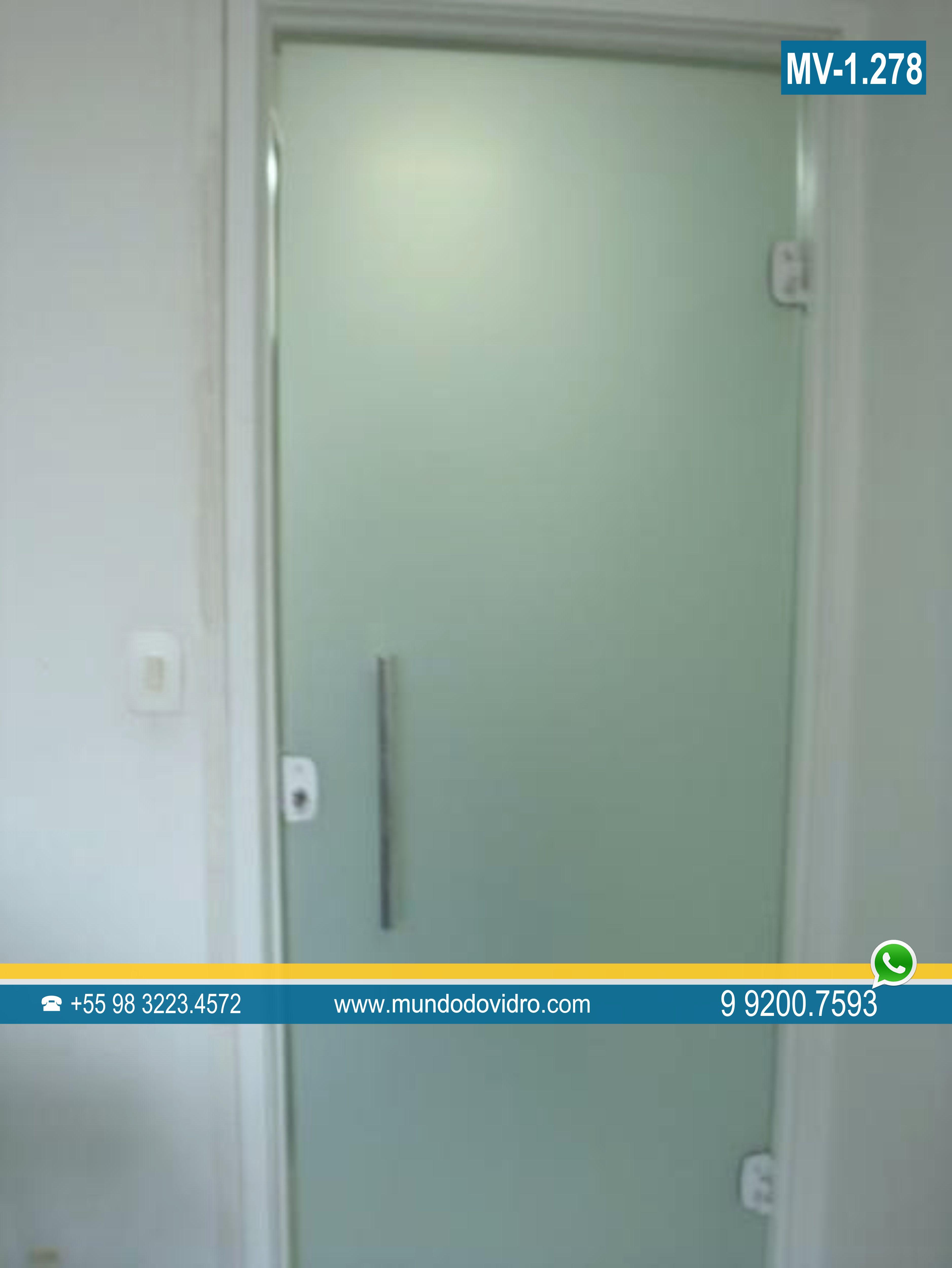Porta de vidro Portas de vidro temperado em São Luís MA #C29709 3754 5000